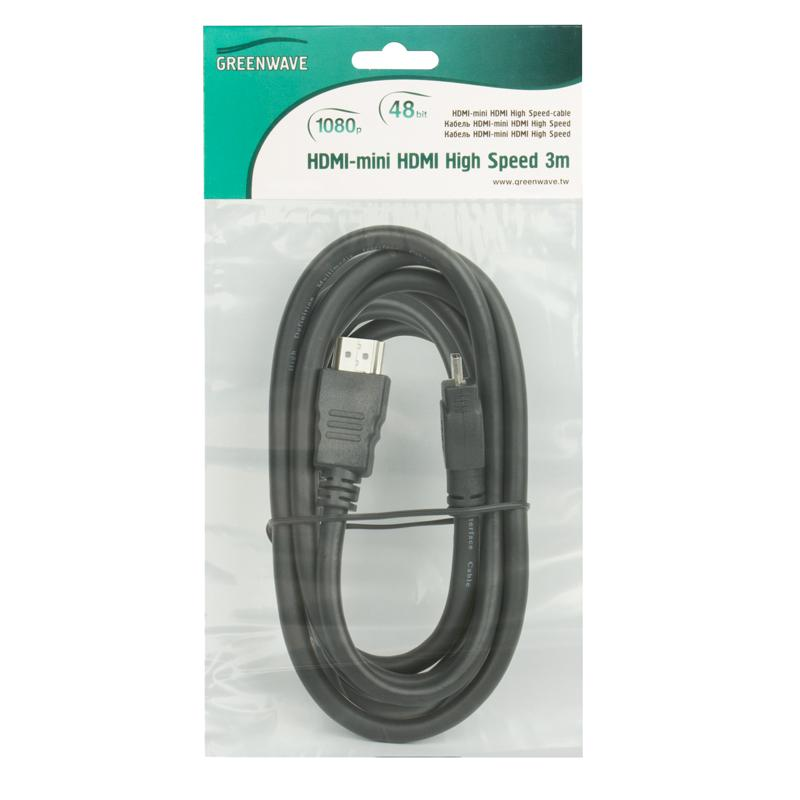 GREENWAVE HDMI-mini HDMI High Speed 3m
