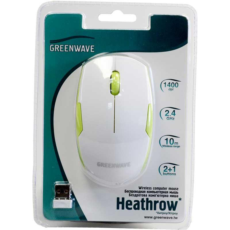 GREENWAVE Heathrow, білo-зелений