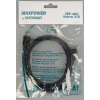 GREENWAVE MAXPOWER USB 2.0 Am-Af 1.5m, чорний