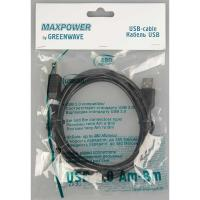 GREENWAVE MAXPOWER USB 2.0 Am-Bm 3m, чорний